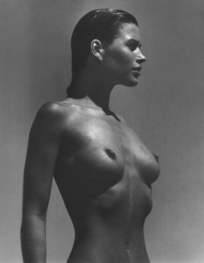 Herb Ritts, 'Carrie in Profile, Paradise Cove', 1988