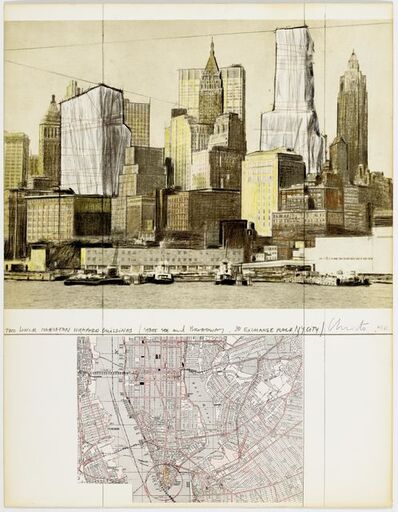 Christo, 'Two Lower Manhattan Wrapped Buildings', 1980