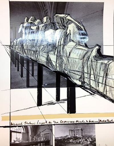 Christo, 'Project for DerGlypotek-Munchen, West Germany, Aegina Temple', 1988