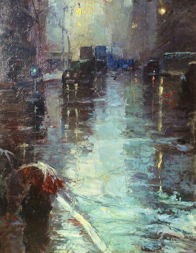 Leon Dolice, 'Rainy Day, New York City, ', ca. 1940