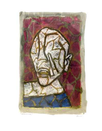 M. F. Husain, 'Intellectual', 1981