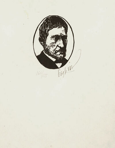Leonard Baskin, 'Thomas Eakins', ca. 1968