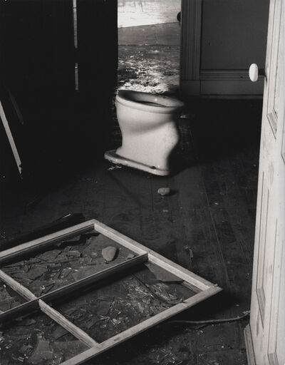 Minor White, 'Untitled (Toilet, Broken Window)', 1960