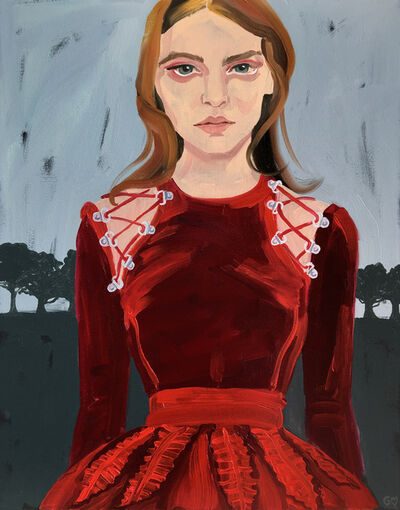 Gill Button, 'Red Dress', 2016