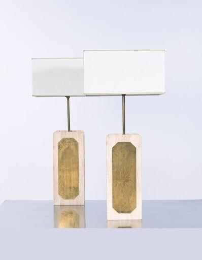 George Mathias, 'Paire de lampes', vers 1970