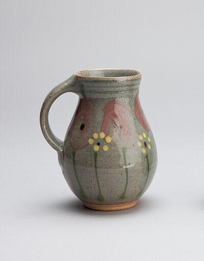 Mark Hewitt, 'Barrel mug, blue celadon glaze with poppy motif', 2018