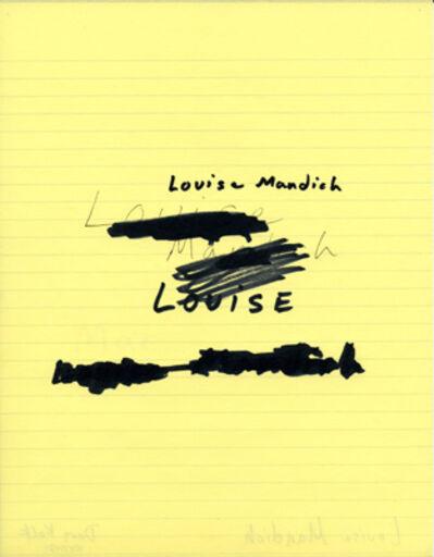 Douglas Kolk, 'Louise Mandich', 1989