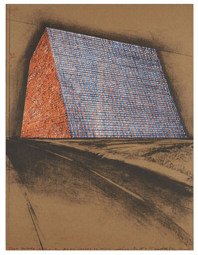 Christo and Jeanne-Claude, 'Texas Mastaba, Project For 500,000 Stacked Oil Drums', 1974