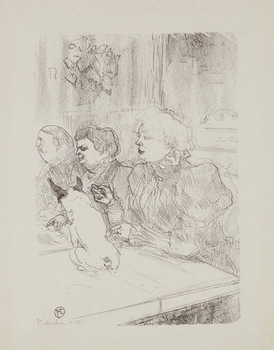 """Henri de Toulouse-Lautrec, 'A la souris - Madame Palmyre (In the Cabaret """"La Souris"""" (The Mouse) – Mrs. Palmyre)', 1897"""