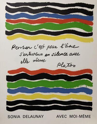 Sonia Delaunay, ' Avec moi-même cover', 1970