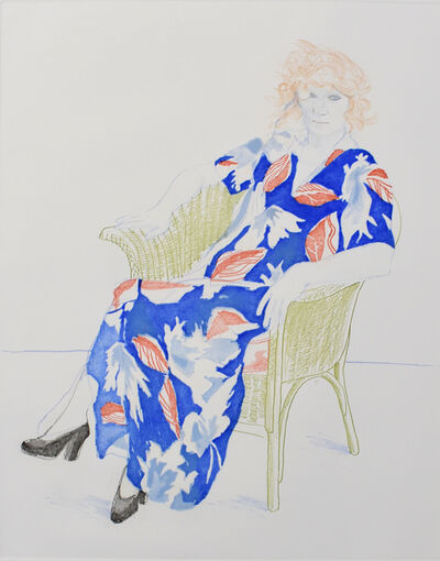 David Hockney, ' Celia in a Wicker Chair', 1974