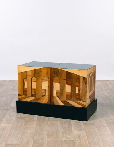 Ettore Sottsass, 'Cabinet Portico infinity in maple, lime, cherry, fibreboard, inlaid woodwork', 1999