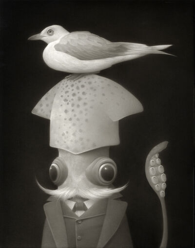 Travis Louie, 'Mr Humboldt and his Favorite Sea Bird, Perchie', 2020