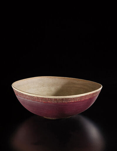 Lucie Rie, 'Serving dish', late 1940s