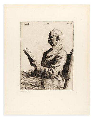 Frank Weston Benson, 'PORTRAIT OF AUGUSTUS HEMENWAY (PAFF 157)', 1919