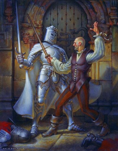 Don Maitz, 'Duel with the White Knight', 2005