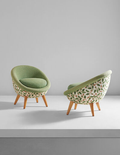 """Jean Royère, 'Pair of low """"Œuf"""" chairs', 1950s"""
