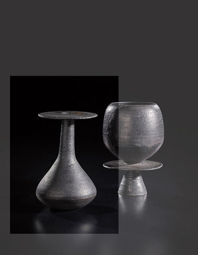 Hans Coper, 'Bottle with hourglass base and disc lip', circa 1965