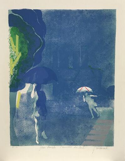 Paul Guiramand, 'Paris: Rainy Day Near Notre Dame', ca. 1973