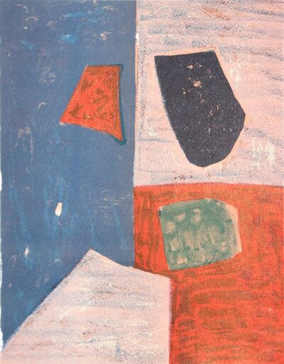 Serge Poliakoff, 'Composition rose, rouge et bleue', 1958