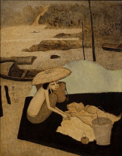 Cheong Soo Pieng, 'Lady by the Lake', 1980