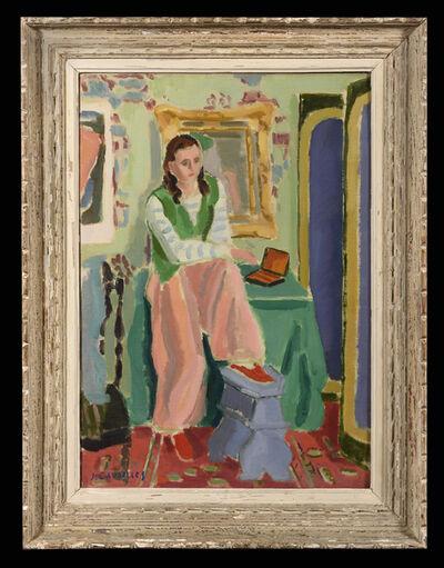 Jules Cavailles, 'Jeune Fille au Gilet Vert', 1941