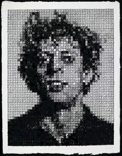 Chuck Close, 'Phil Crosshatch', 2010