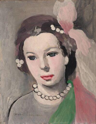Marie Laurencin, 'Buste de Jeune Fille au Collier de Perles'