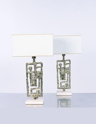 Angelo Brotto, 'Euclide Paire de lampes', vers 1970
