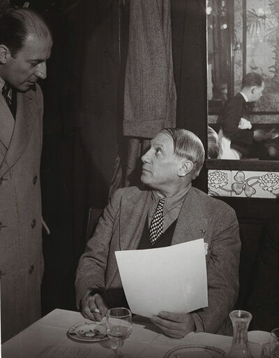 Brassaï, 'Picasso at the Brasserie Lipp with Pierre Matisse', 1939/1960c