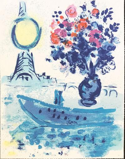 Marc Chagall, 'Le Bateau Mouche au bouquet - From Regards sur Paris ', 1961
