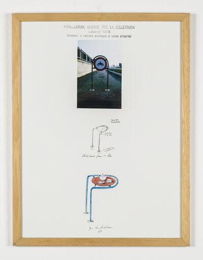 """Ugo La Pietra, 'Serie """"Attrezzature urbane per la collettività"""" - Tavolino per il thè', 1979"""