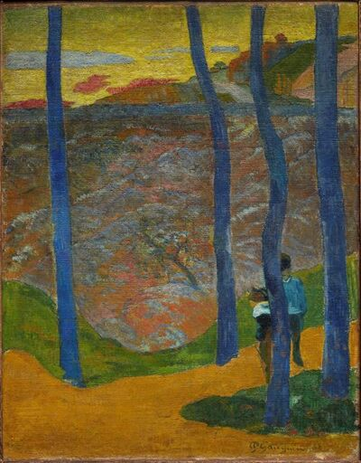 Paul Gauguin, 'Blue Trees. Your Turn Will Come, My Beauty!', 1888