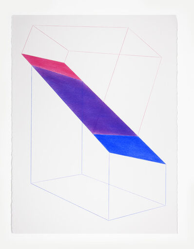 Brant Ritter, 'Accidental Happiness (Wireframe) Red + Blue', 2017