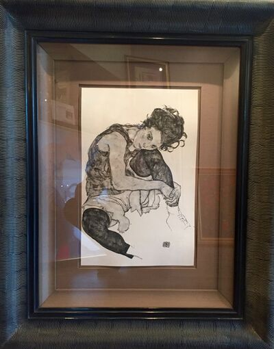 Egon Schiele, 'Seated Woman with Bent Knee', 1917