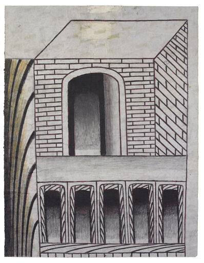 Martín Ramírez, 'Untitled (Brick Structure with Arches)', ca. 1960