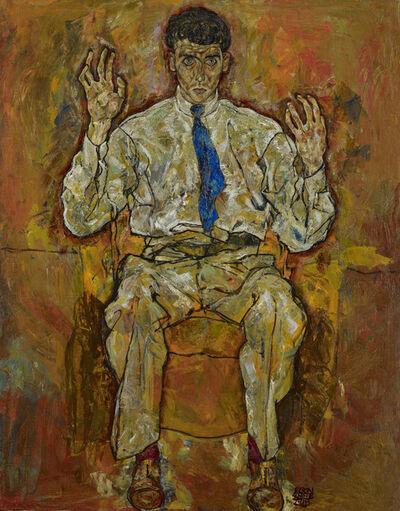 Egon Schiele, 'Portrait of Albert Paris von Gütersloh', 1918