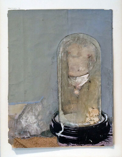 Joe Brainard, 'Untitled (Male Torso in Glass Cloche)', 1978
