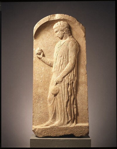 Unknown Greek, 'Marble stele (grave marker) of a young girl', ca. 440–425 B.C.