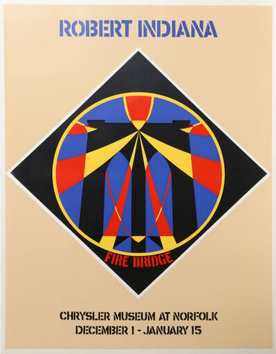 Robert Indiana, 'Fire Bridge: Chrysler Museum at Norfolk, December 1 - January 15', ca. 1965