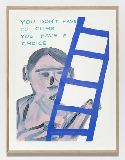 David Shrigley, 'Untitled (You don't have to climb)', 2019