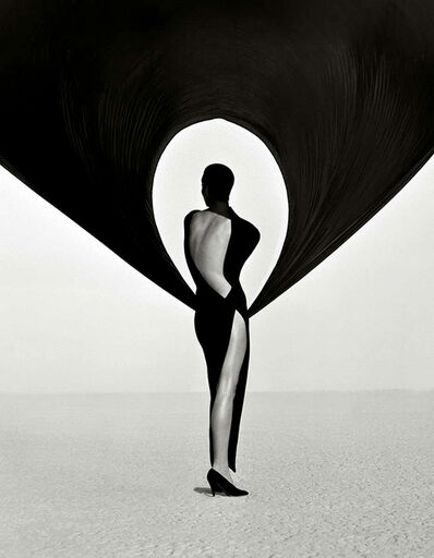 Herb Ritts, 'Versace Dress, Back View, El Mirage', 1990