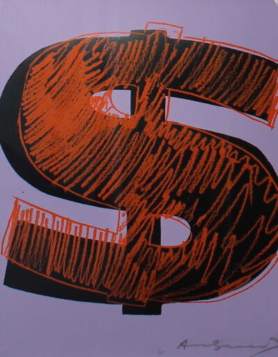 Andy Warhol, 'Dollar Sign, Orange (FS II.276)', 1982