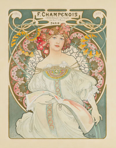 Alphonse Mucha, 'Reverie', 1897