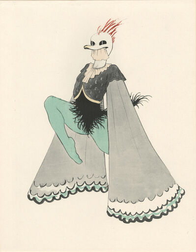 "Walter Schnackenberg, '""Ghostly Figure"", Ballet und Pantomime (plate 12)', 1920"
