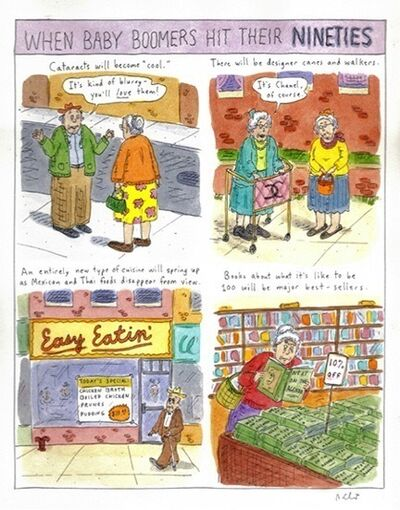 Roz Chast, 'When Baby Boomers Hit Their 90s', 1995
