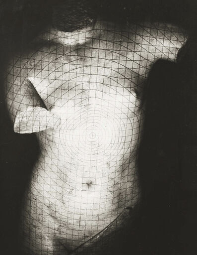 Erwin Blumenfeld, 'Grid on plaster, Paris', 1937