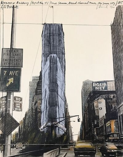Christo and Jeanne-Claude, 'Wrapped Building, Project for 1 Times Square, New York', 1985
