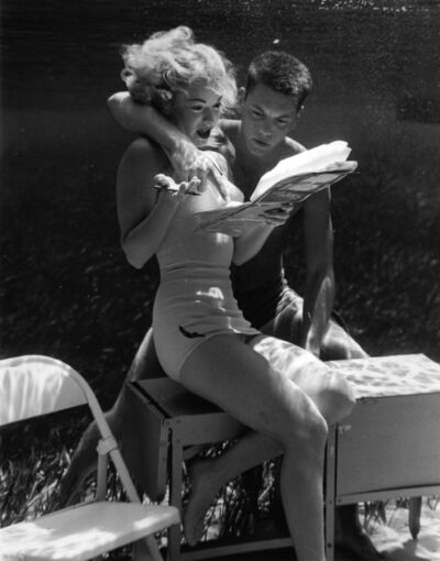 Bruce Mozert, 'Silver Springs Underwater (couple reading together)', 1940-1970