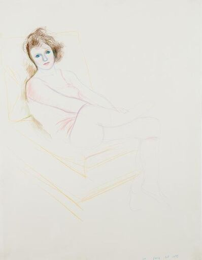 David Hockney, 'Celia in a Pink Chemise, Paris October 1973', 1973